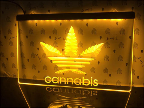 Image of High Leaf Illuminated LED Sign