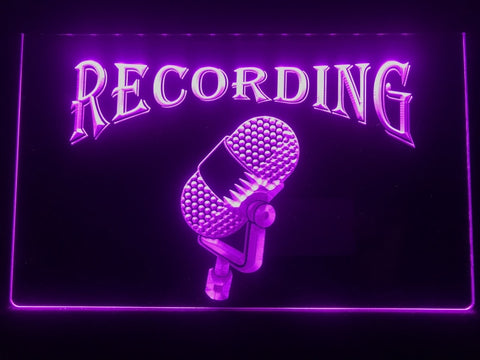 Image of Recording Old Style Microphone Illuminated Sign