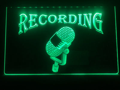 Recording Old Style Microphone Illuminated Sign