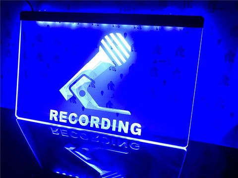 Recording Microphone Illuminated sign