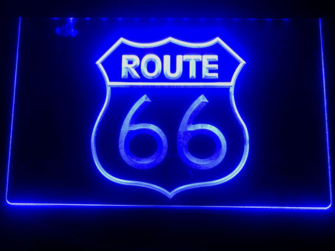 Route 66 Illuminated Sign