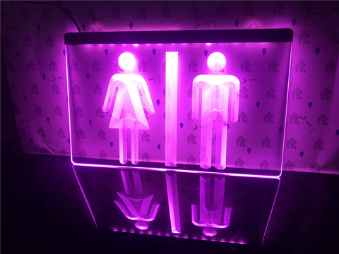 Image of Toilet Washroom Illuminated Sign