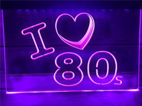 Image of I Love 80s Illuminated Sign