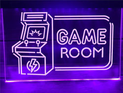 Arcade Game Room Neon Sign