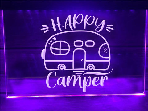 Happy Camper Airstream Illuminated Sign