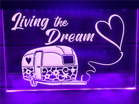 Image of Living The Dream Illuminated Sign