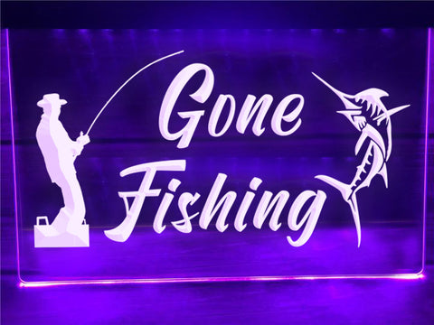 Image of Gone Fishing Illuminated Sign