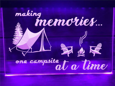 Making Memories in Tent Illuminated Sign