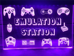 Emulation Station Illuminated Sign