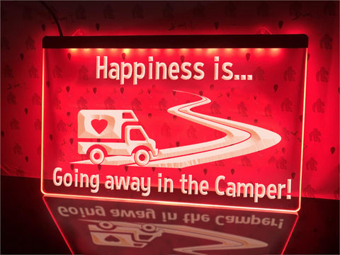 Image of Going Away in the Camper Illuminated Sign
