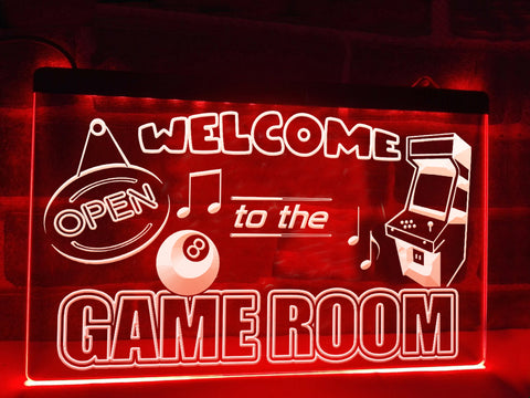 Image of Welcome to the Game Room Illuminated Sign