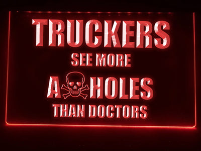 Trucker Skull Illuminated Sign
