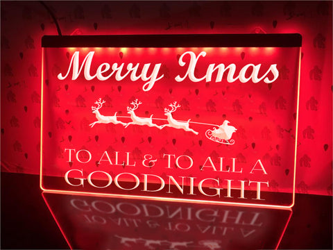 Merry Xmas Illuminated Sign