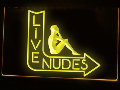 Image of Live Nudes Illuminated Sign