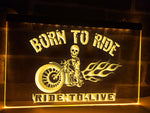Born To Ride Illuminated Sign