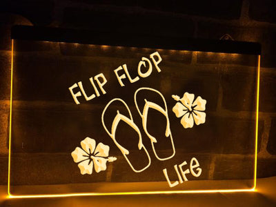 Flip Flop Life Illuminated Sign