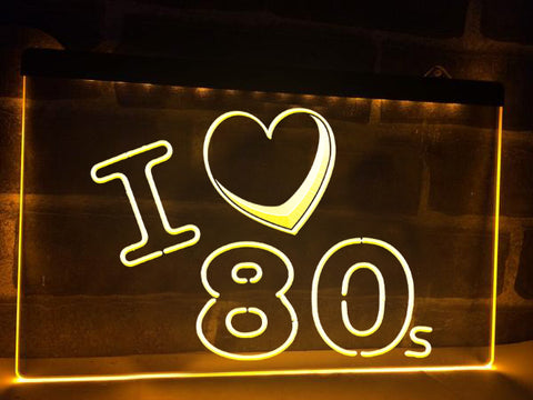 I Love 80s Illuminated Sign