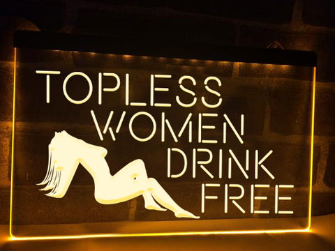 Image of Topless Women Illuminated Sign