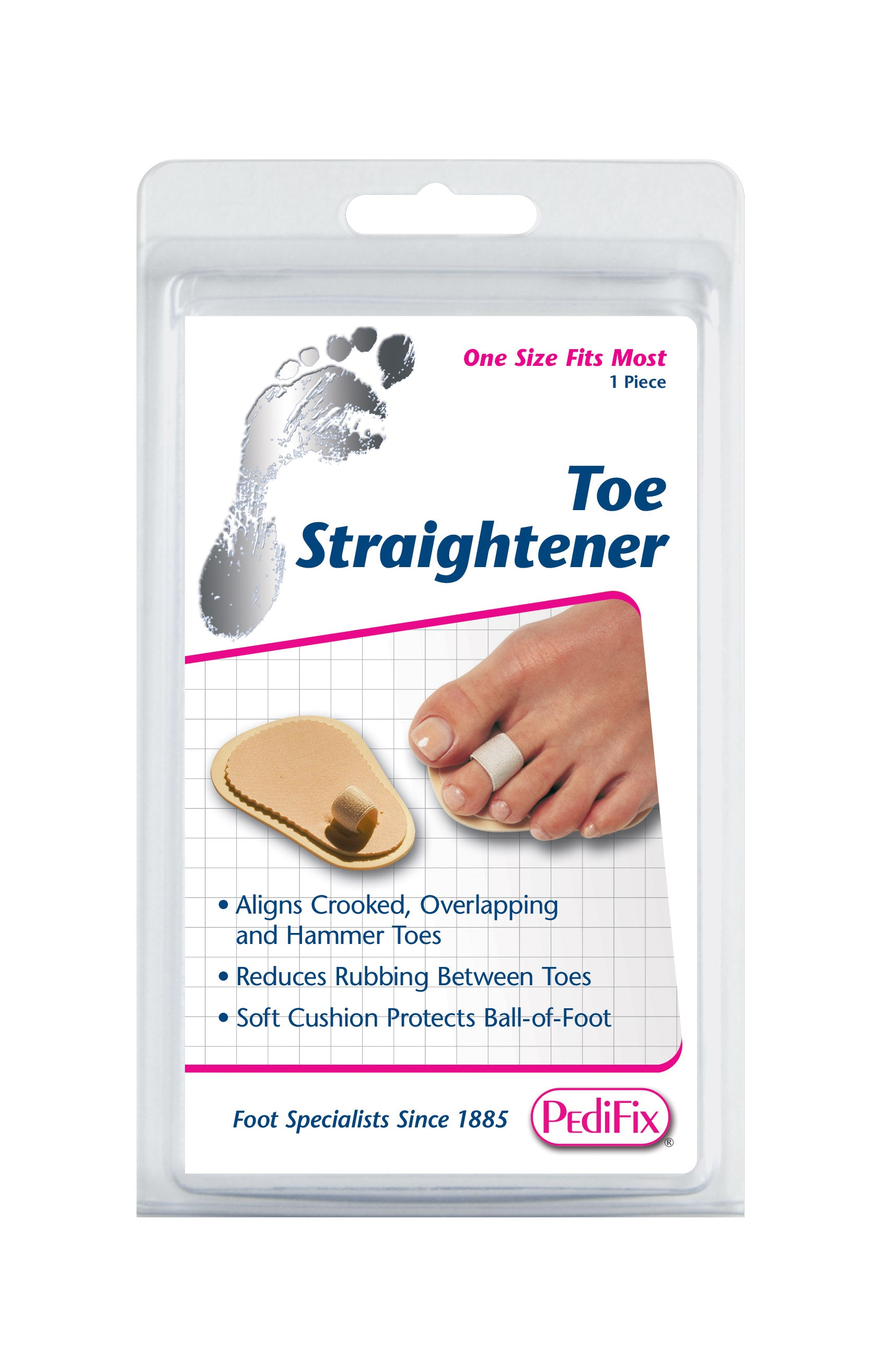 PediFix Pedi-smart Toe Straightener/Toe trainer/Budin Splint for One, Two or Three Toes