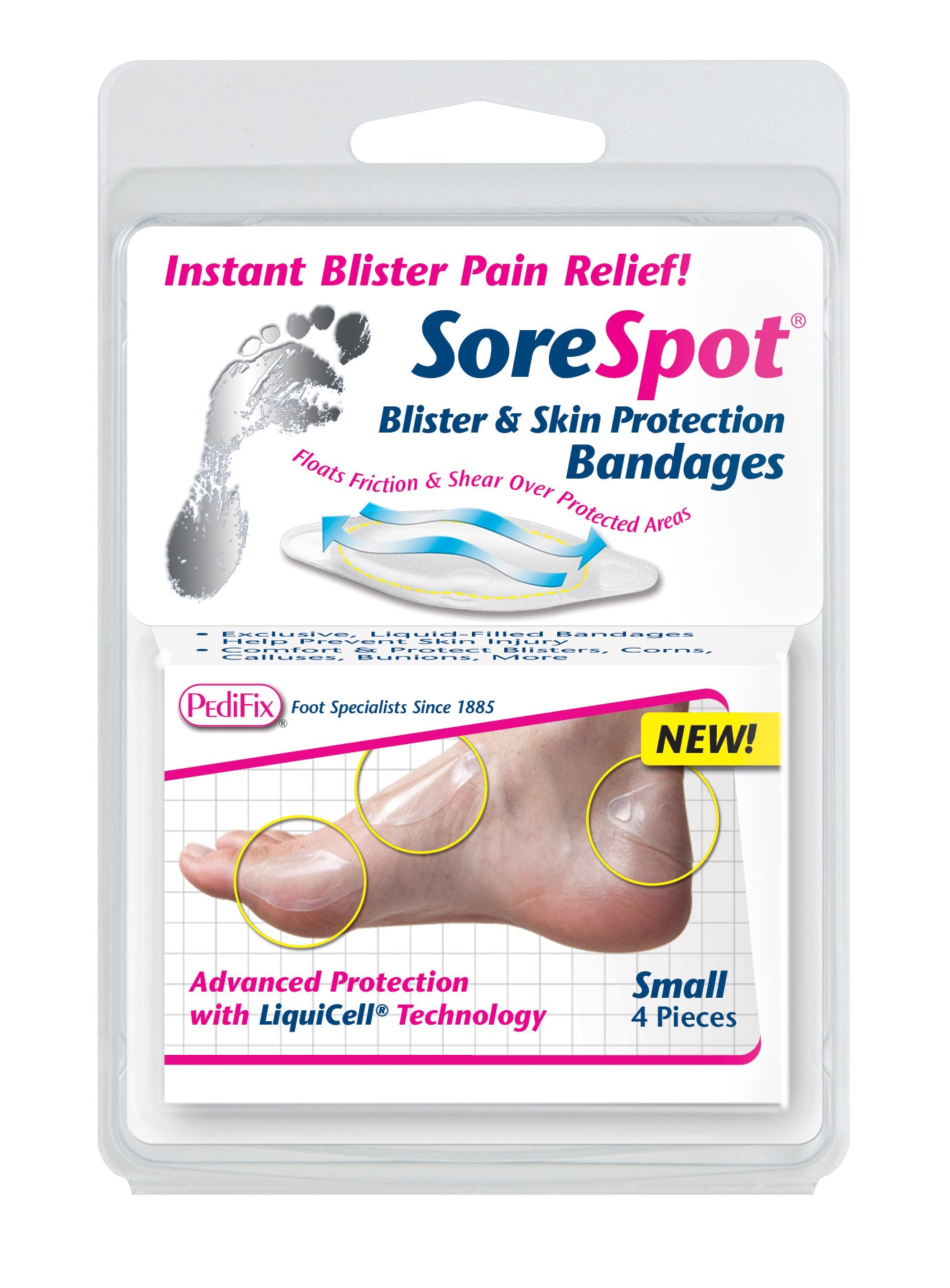 PediFix SoreSpot Blister and Skin Protection Bandages