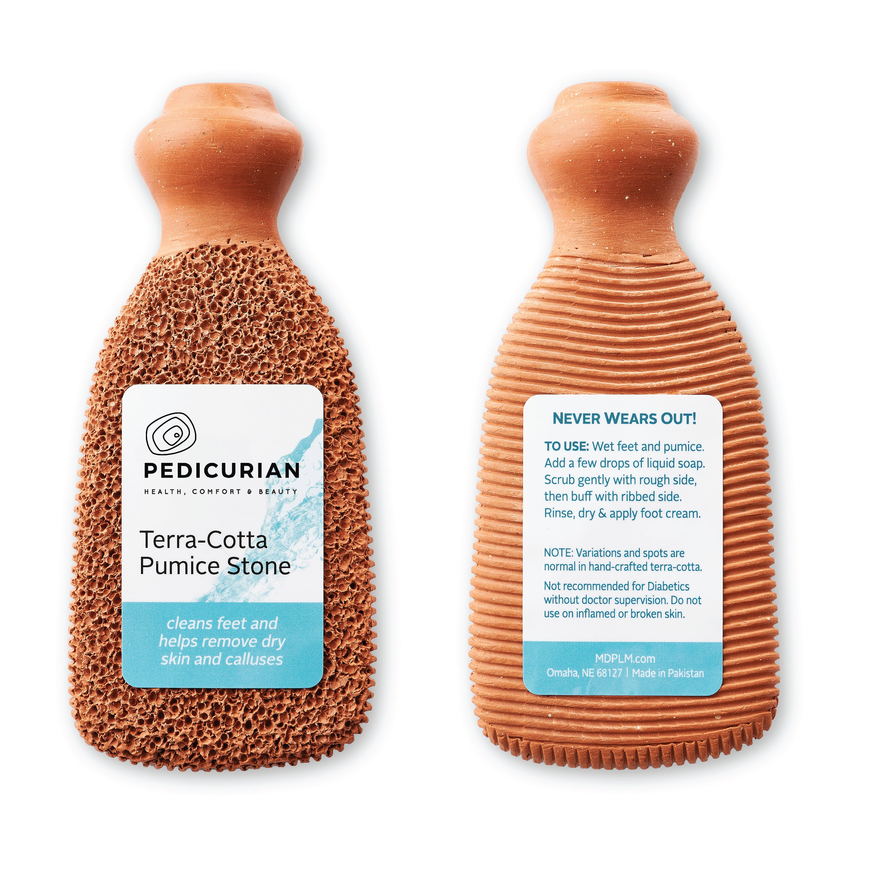 Pedicurian Terra Cotta Foot Scrubber