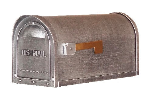 Classic Curbside Mailbox-Brushed Silver Tone