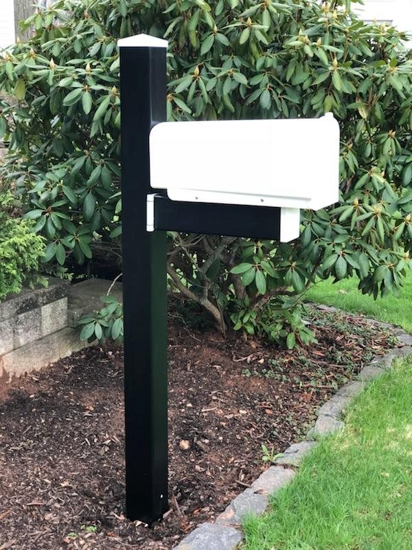 The Tuxedo-Swing Hinge Mailbox & Post