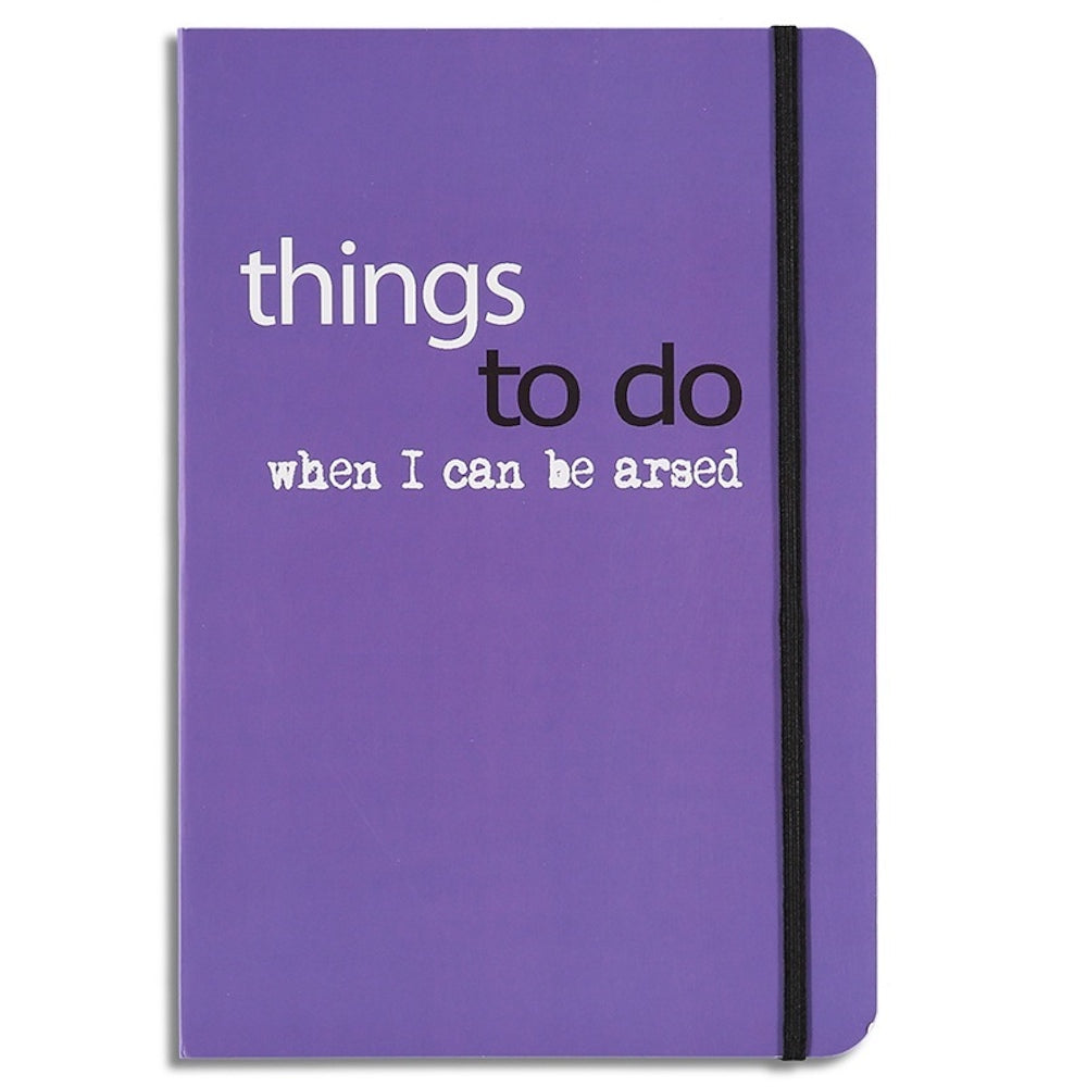 things to do when - lined notebook