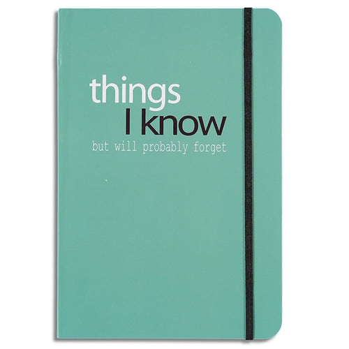 This A5 sized notebook contains 80 pages of lined paper and features an elastic strap closure.