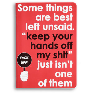 some things are best left unsaid - sweary notebook