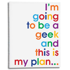 I'm going to be a geek - A4 size folder