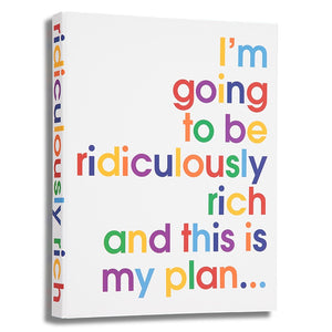 I'm going to be ridiculously rich - A4 size folder