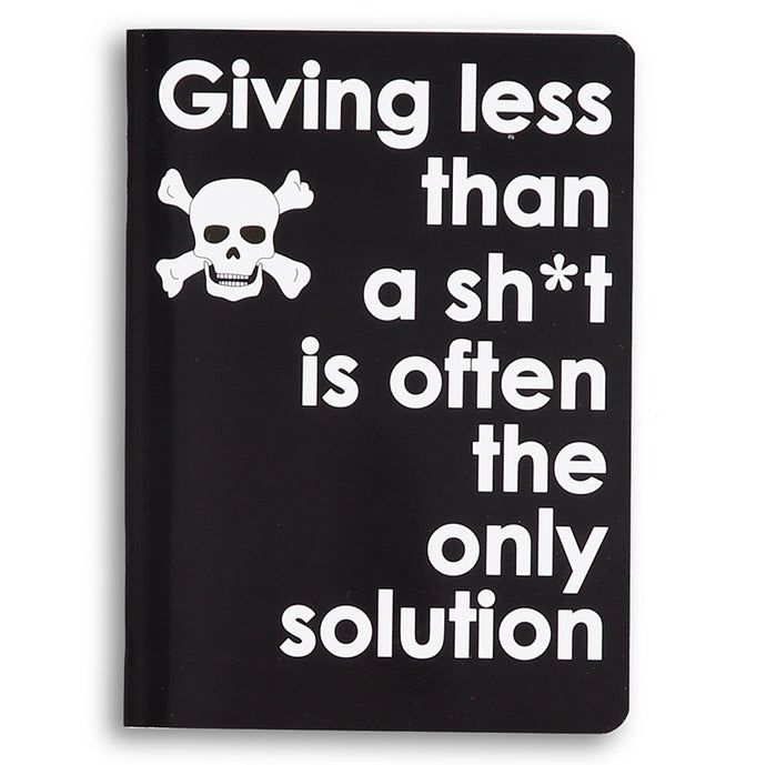 giving less than a sh*t - little notebook