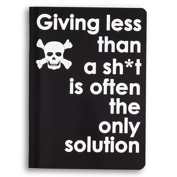 giving less than a sh*t - sweary notebook