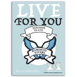 Remember to Live - Latin Motto - Iron-On Woven Patch