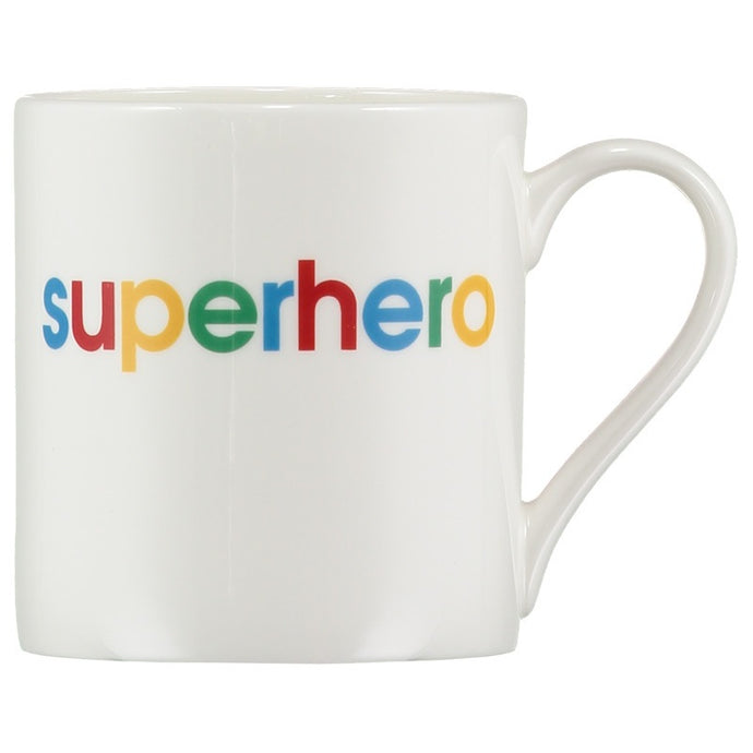 superhero - slogan porcelain mug