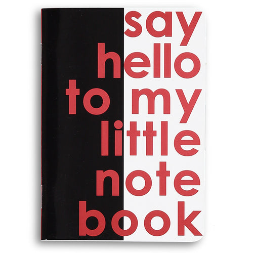 say hello to my little notebook - movie quote notebook