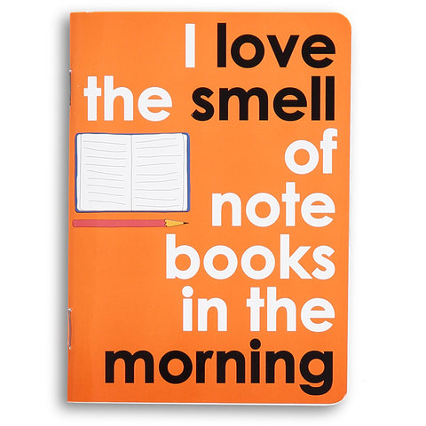 I love the smell of notebooks - movie quote notebook