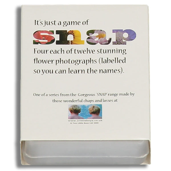 Snap card game - Flowers