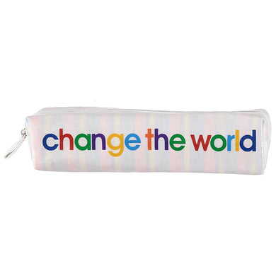 change the world - pencil case