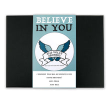 She Flies With Her Own Wings - Latin Motto - Personalised Gift Box