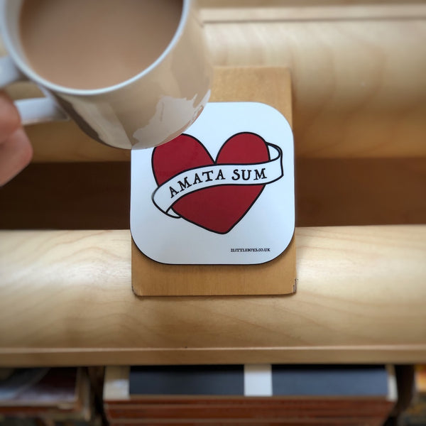 I Am Loved - Latin Motto - Coaster