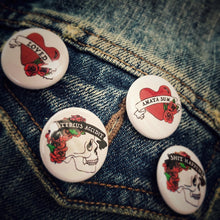 Set of Four Pin Badges