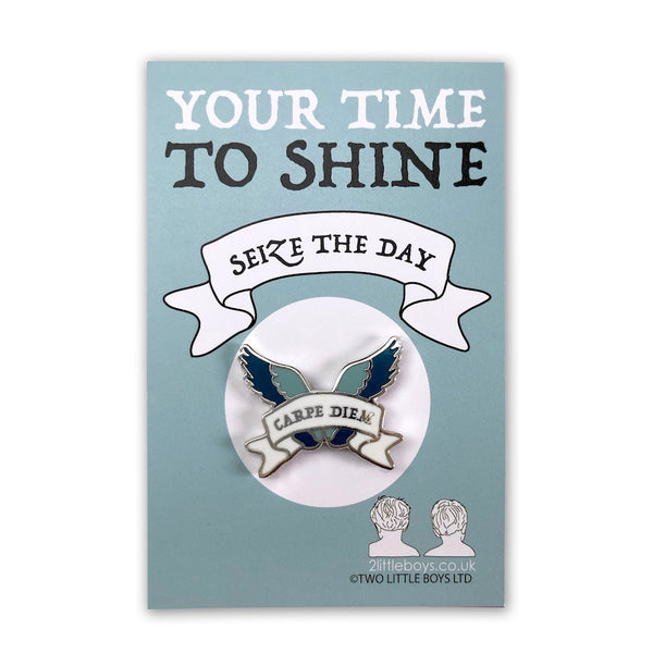 Seize the Day - Latin Motto - Enamel Pin