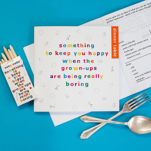 Something to Keep you Happy - Dinner Table Activity Book