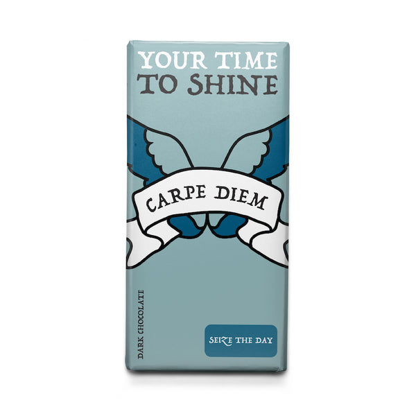 Seize the Day - Latin Motto - Dark Chocolate Bar
