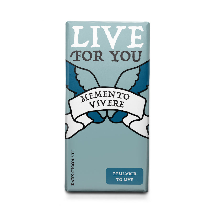 Remember to Live - Latin Motto Dark Chocolate Bar