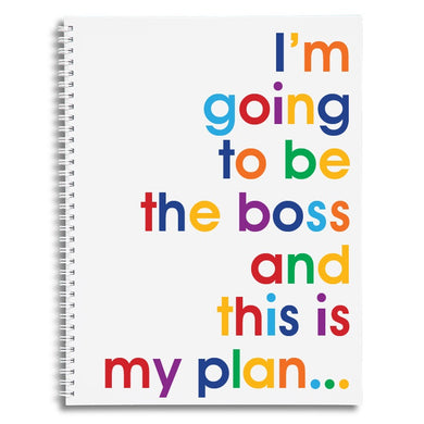 I'm going to be the boss - A4 size writing pad