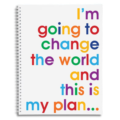 I'm going to change the world - A4 size writing pad