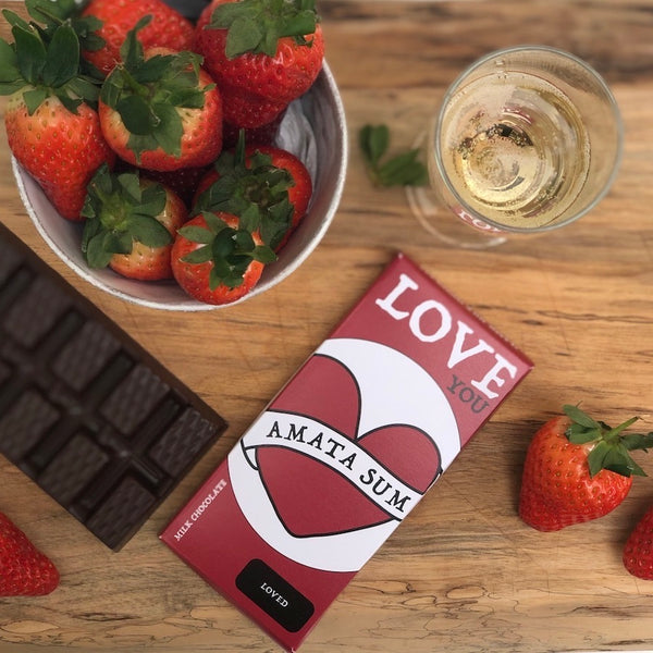 I Am Loved - Latin Motto - Milk Chocolate Bar